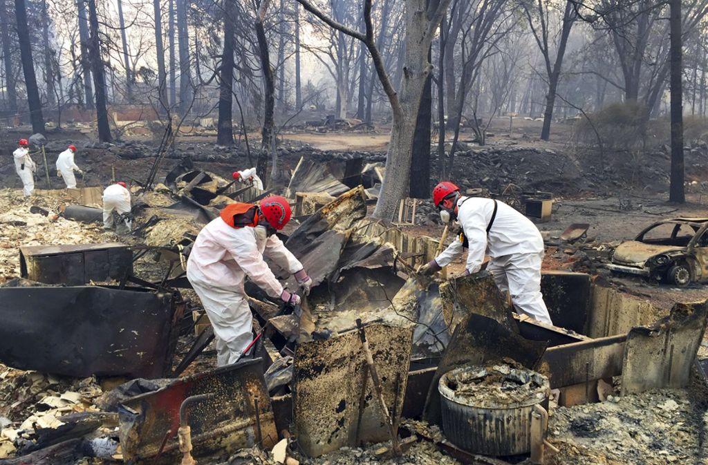 Die Waldbrände in Kalifornien wüten nun schon seit Wochen. Foto: AP