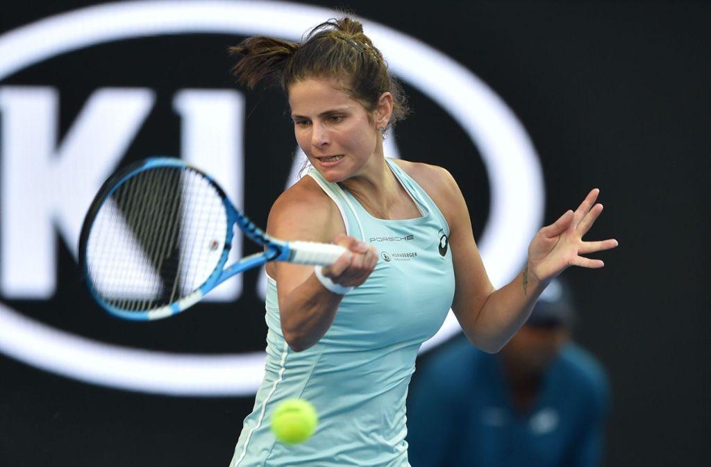 Die Siegesserie ist gerissen: Julia Görges ist bei den Australian Open ausgeschieden. Foto: AFP