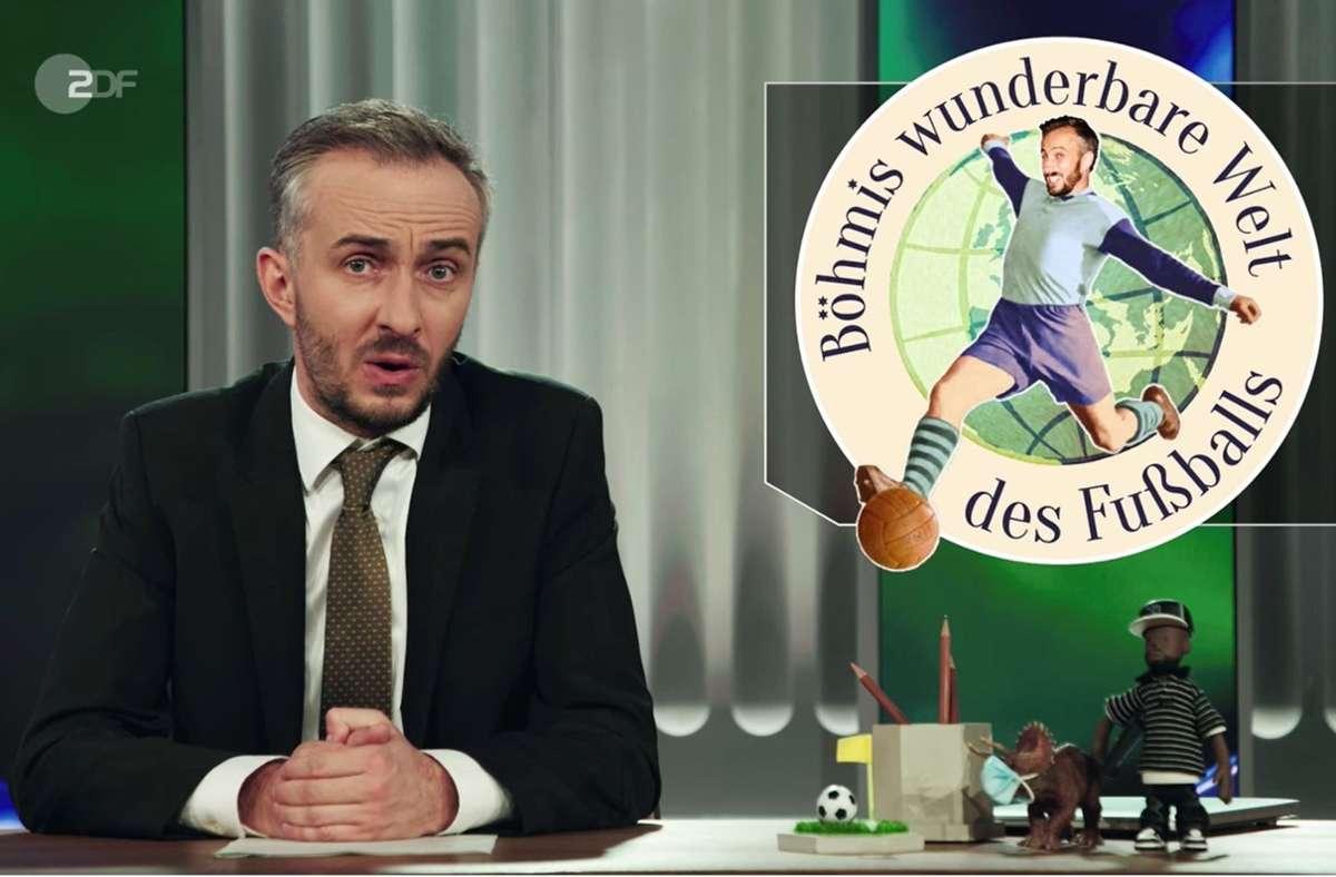 Jan Böhmermann ist, wie man  ahnen konnte, kein Freund des FC Bayern München. Foto: ZDF/Screenshot