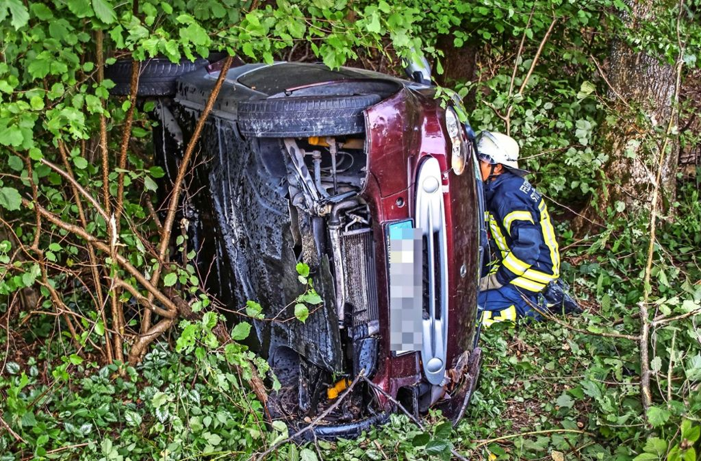 Im August 2017 hatte ein Smartfahrer auf der Mittleren Filderstraße kurz vor  Birkach die Kontrolle verloren. Foto: SDMG