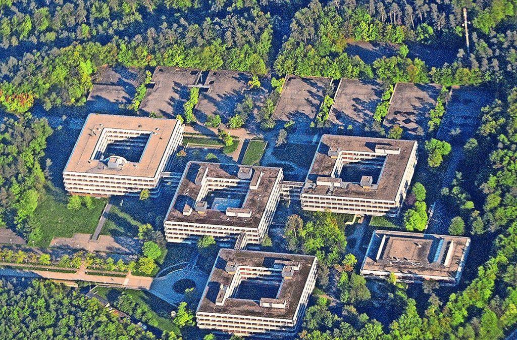 Der Eiermann-Campus aus der Vogelperspektive Foto: dpa