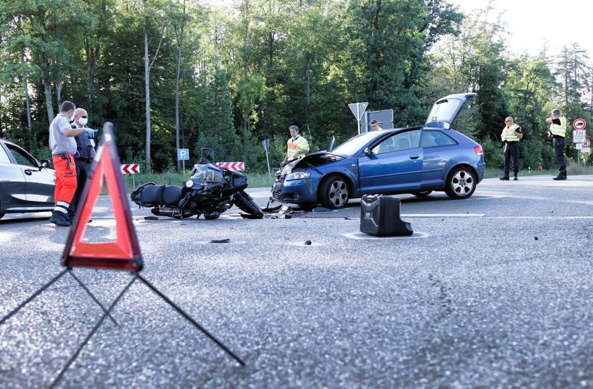 Am Mittwoch hat es bei Winterbach einen schweren Unfall gegeben. Foto: 7aktuell.de/Kevin Lermer