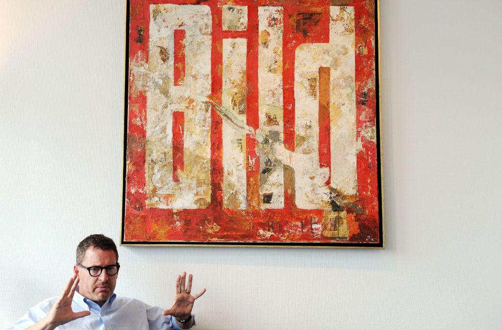 """Kai Diekmann, Herausgeber der """"Bild"""", wird zum 31. Januar 2017 den Springer-Verlag verlassen. Auf eigenen Wunsch, wie es heißt. Foto: dpa"""