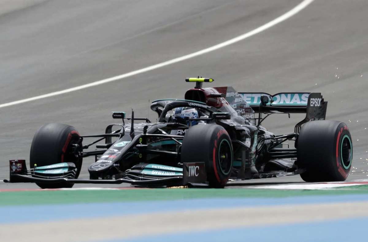 Valtteri Bottas hat sich die Pole Position in Portugal geschnappt. Foto: dpa/Manu Fernandez