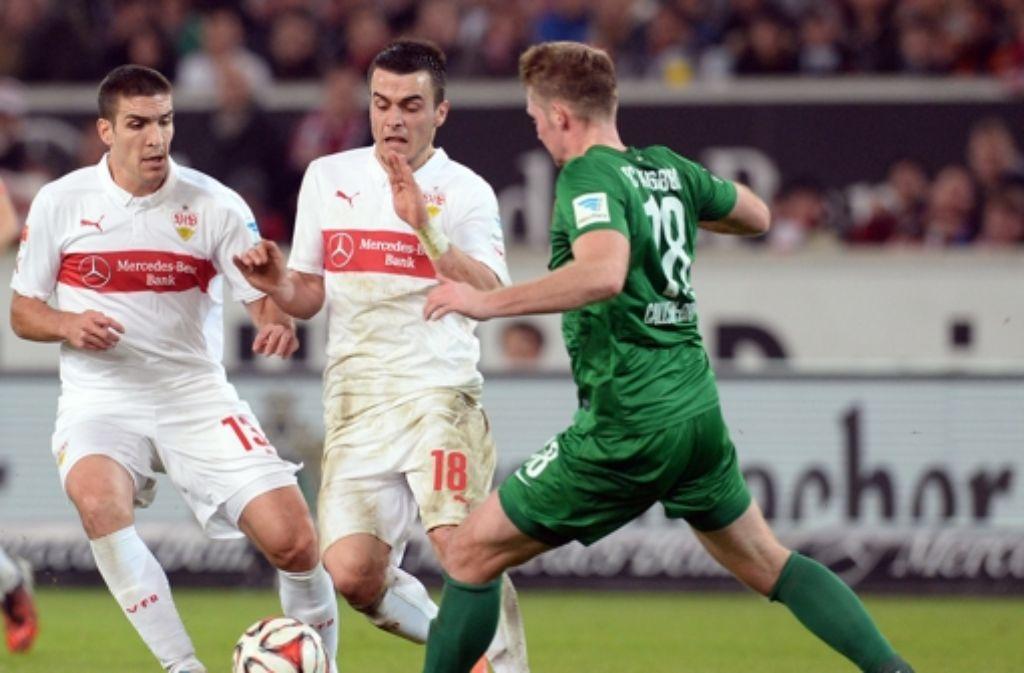 Die dritte Pleite in Folge: der VfB Stuttgart verliert zuhause 0:1 gegen Augsburg. Foto: dpa