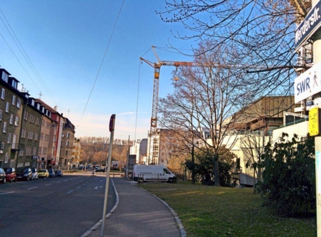 Bisher endet die Werderstraße in der Nähe des SWR im Osten. Foto: Jürgen Brand