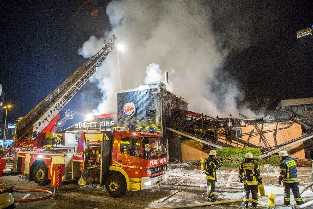 Burger King Pforzheim Brennt