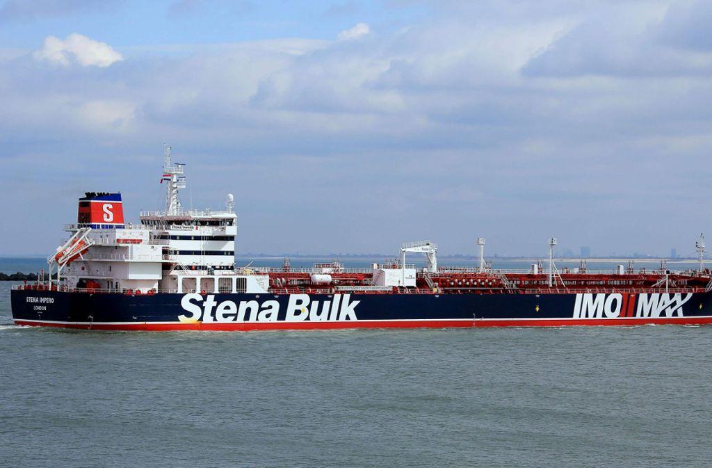 """Die iranischen Revolutionsgarden hatten am Freitag den britischen Tanker """"Stena Impero"""" in der Meerenge am Persischen Golf beschlagnahmt. Foto: AFP"""