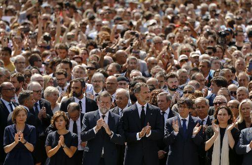 Die Bevölkerung in Barcelona steht zusammen