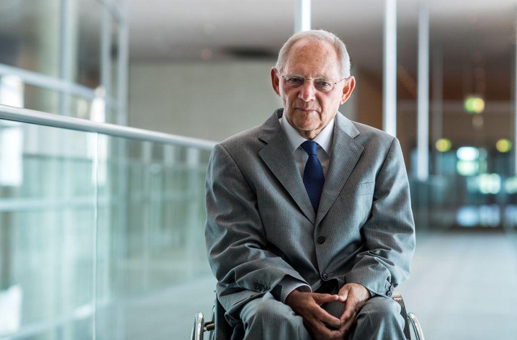 Bundestagspräsident Schäuble mahnt zu mehr Klimaschutz. Foto: dpa/Bernd von Jutrczenka