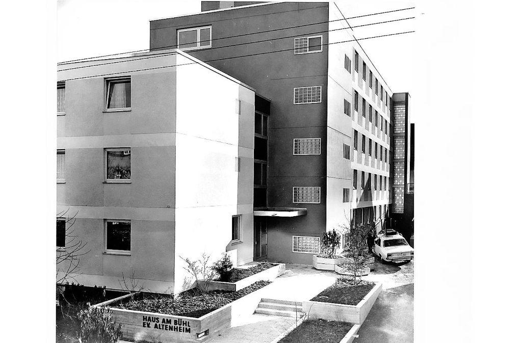 """In der Anfangszeit hieß die Einrichtung noch """"Haus am Bühl"""". Foto: Kirchenpflege Zuffenhausen"""