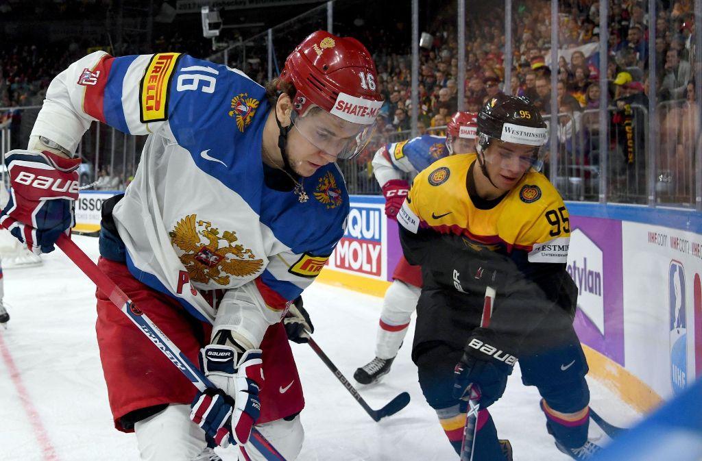 Deutschlands Eishockey-Spieler hatten gegen Russland das Nachsehen. Foto: dpa