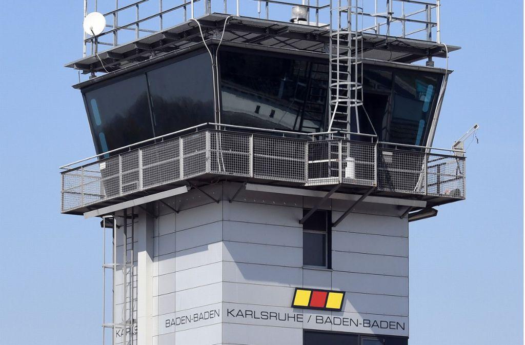 Der Flughafen Karlsruhe/Baden-Baden wurde am Mittwoch evakuiert. Foto: dpa