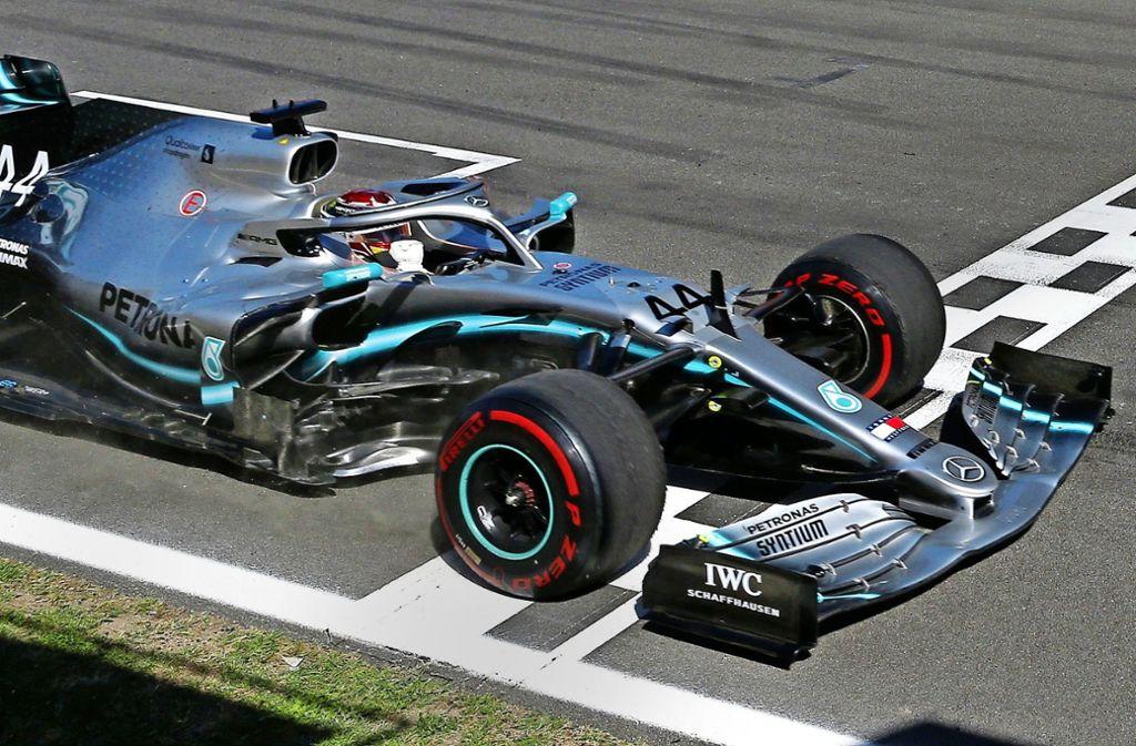 Lewis Hamilton ist in dieser Saison bereits drei Mal als Erster über die Ziellinie gefahren. Foto: AP