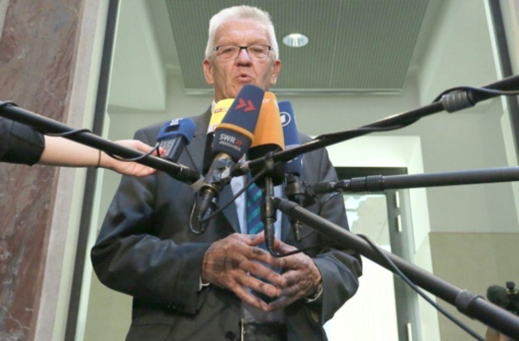 Baden-Württembergs Ministerpräsident Winfried Kretschmann (Grüne) Foto: dpa