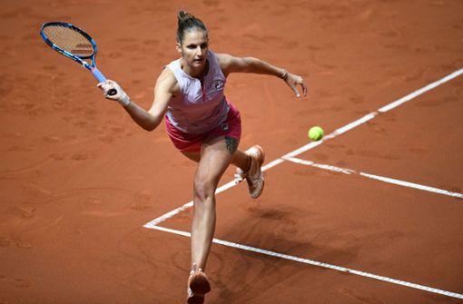 Karolina Pliskova zieht in Stuttgart ins Viertelfinale ein