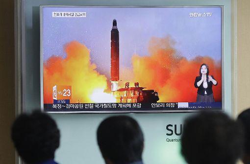 Nordkorea feuert ballistische Rakete ins Meer