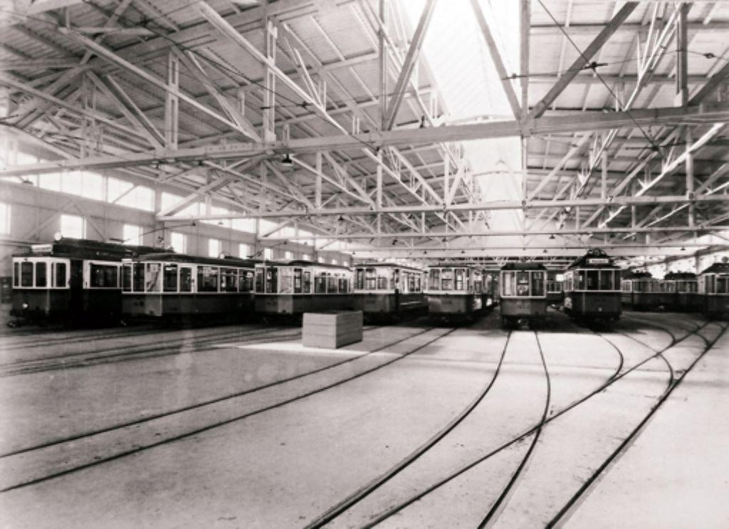 In den 1950er Jahren ist die Halle von 70 auf 140 Meter verlängert worden Foto: Archiv SSB