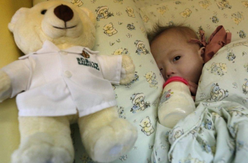 Der kleine Gammy ist am Down Syndrom erkrankt. Foto: dpa