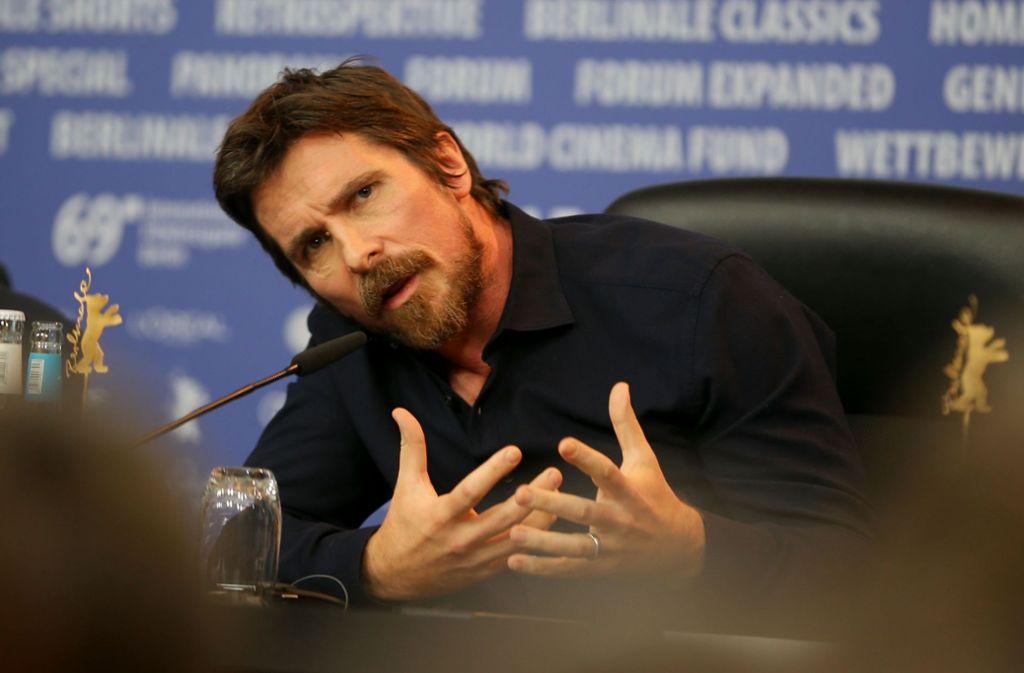 """Mit seinem Auftritt brachte Christian Bale (""""Batman"""") am Montag einigen Hollywood-Glanz auf die Berlinale. Foto: Getty"""