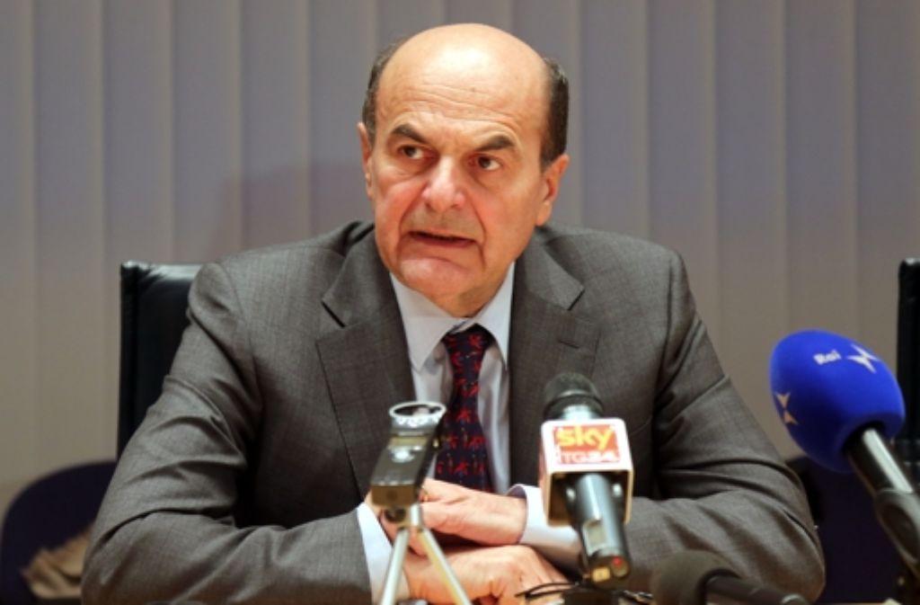 Pier Luigi Bersani ist der Spitzenkandidat des Mitte-Links-Bündnisses. Foto: dpa