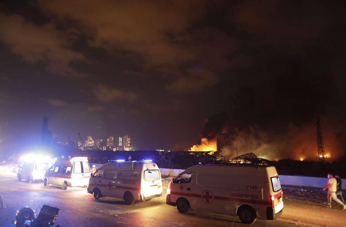 Bei der gewaltigen Explosion kamen mindestens 130 Menschen ums Leben. Foto: dpa/Hassan Ammar
