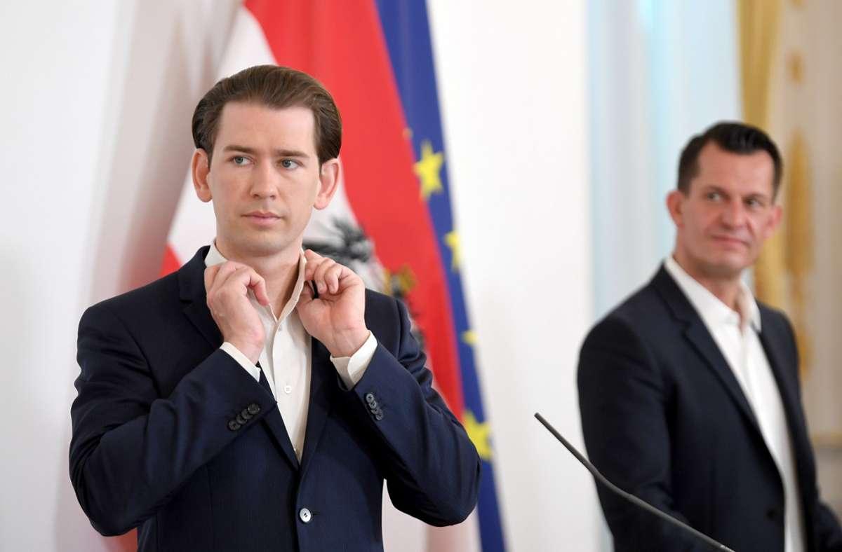 Kanzler Sebastian Kurz kündigt weitere Lockerungen an. Foto: dpa/Roland Schlager