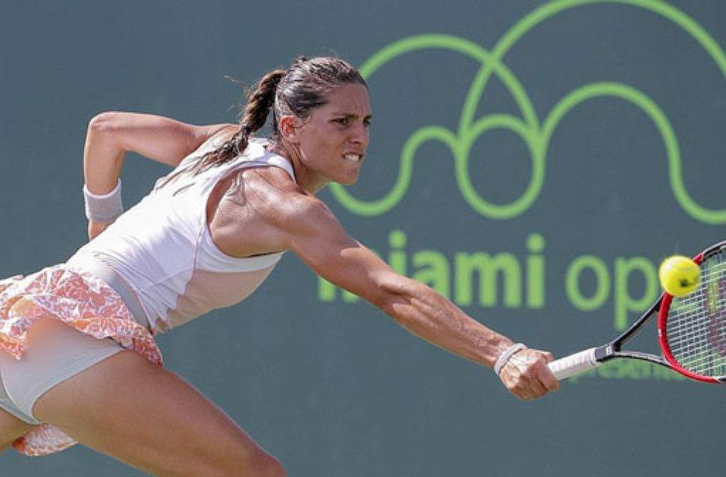 Andrea Petkovic (Foto) und Sabine Lisicki sind im WTA-Turnier von Miami im Viertelfinale. Foto: dpa
