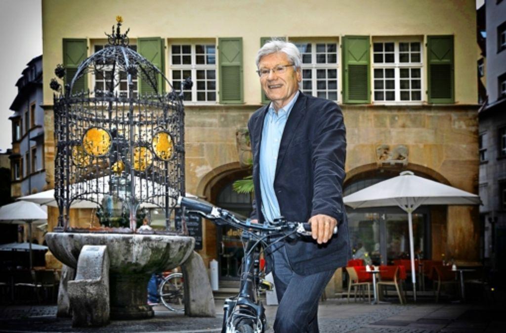 Michael Kienzle: Das Rad hat der Rat fast immer dabei. Foto: Horst Rudel