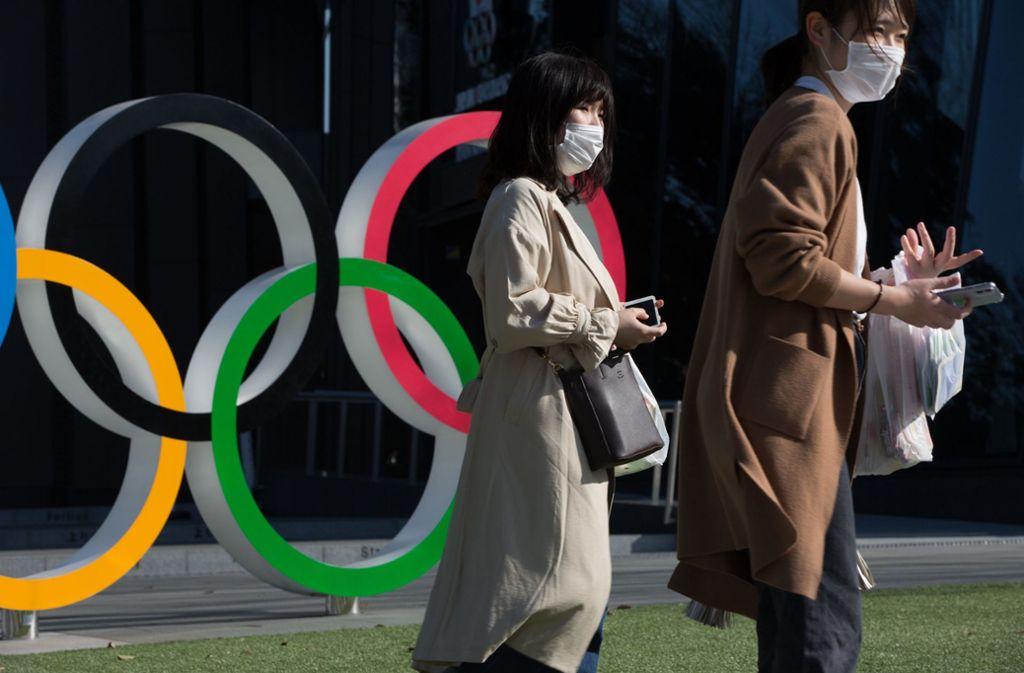 Olympia in Tokio wird höchstwahrscheinlich dem Coronavirus zum Opfer fallen. Foto: dpa/Stanislav Kogiku