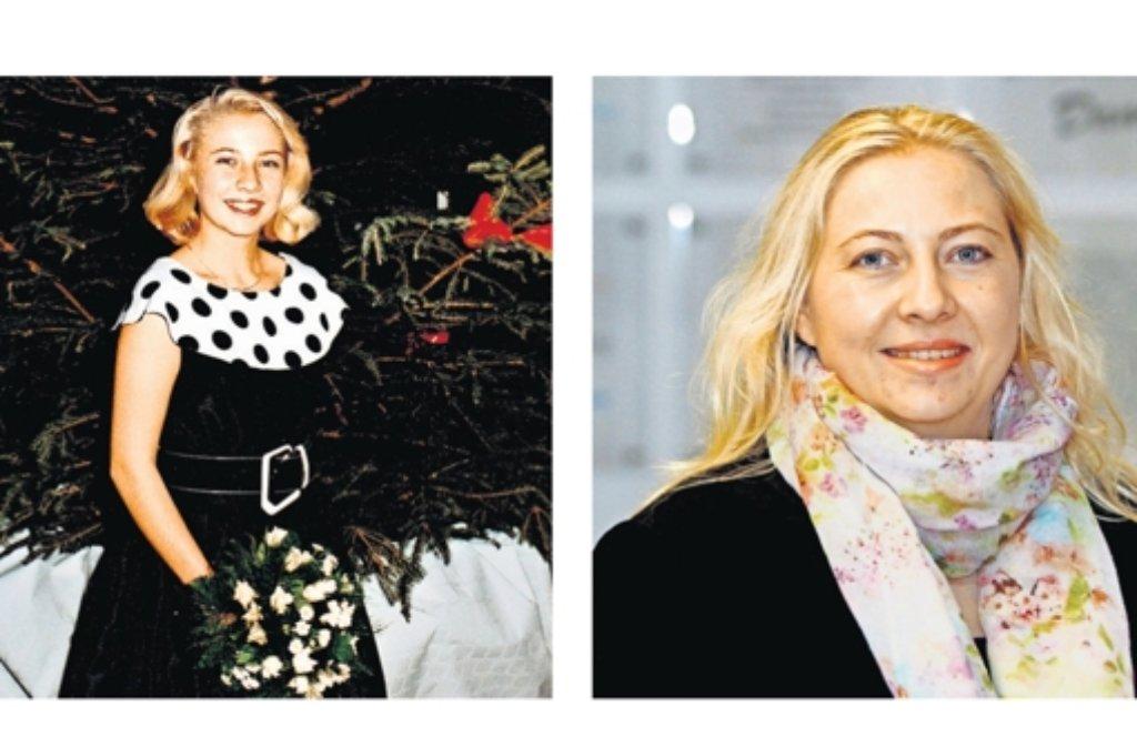 Gitte Hutter beim Abschlussball der Tanzstunde und heute. Foto: privat, factum/Bach Foto: