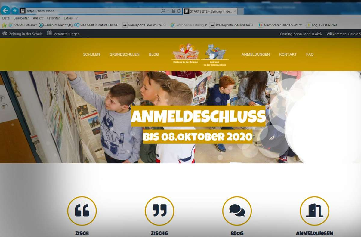 Die neue Homepage ist nun online. Foto: StZ