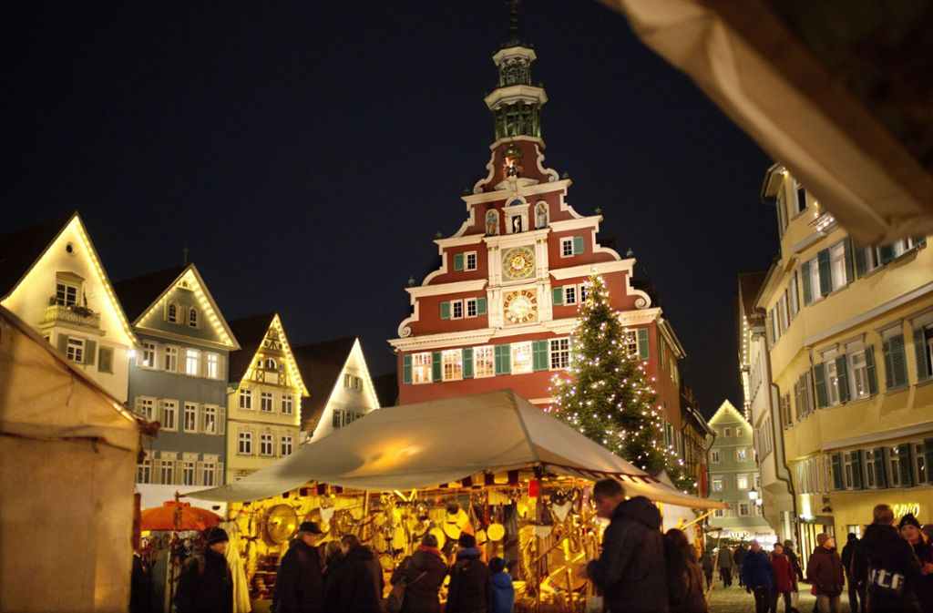Der Esslinger Weihnachtsmarkt wartet mit Mittelalterlichem auf. Foto: /Ines Rudel