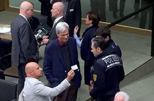 Wie zwei Politiker für einen Eklat im  Landtag sorgten