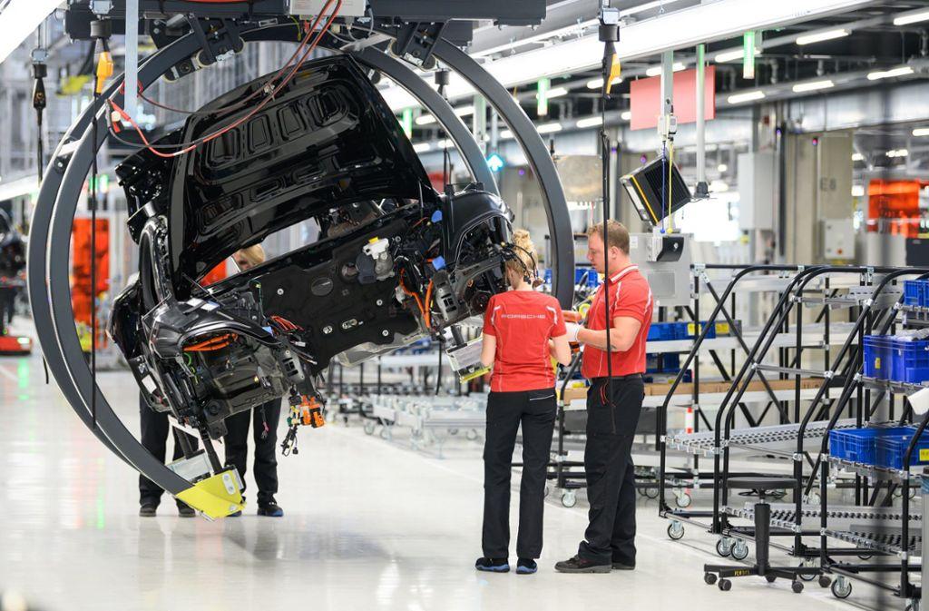 Ein Serverausfall hat die Produktion bei Porsche für Stunden zum Erliegen gebracht. Foto: dpa/Sebastian Gollnow