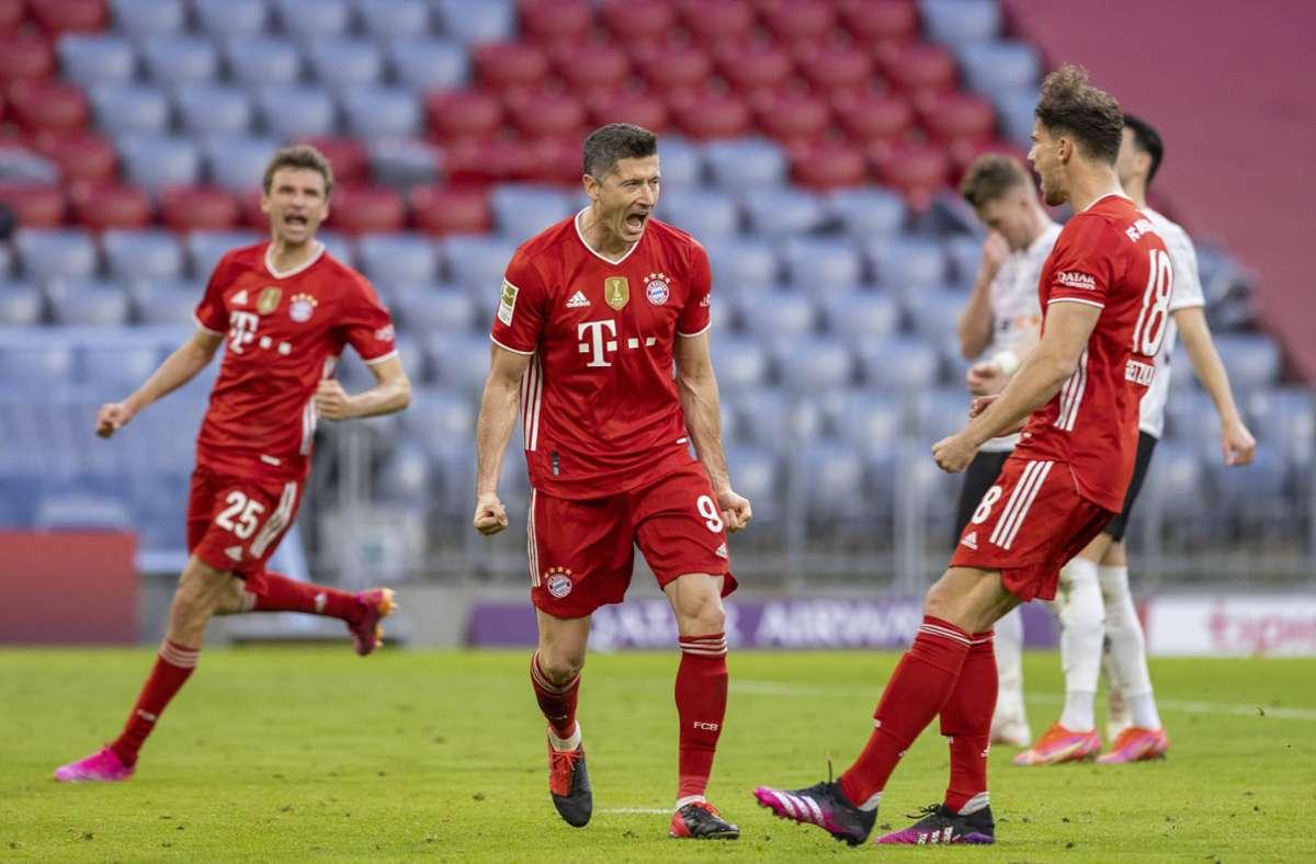 Für die Münchner ist es die neunte Meisterschaft nacheinander. Foto: MoMue / via Mladen Lackovic/Moritz Mueller