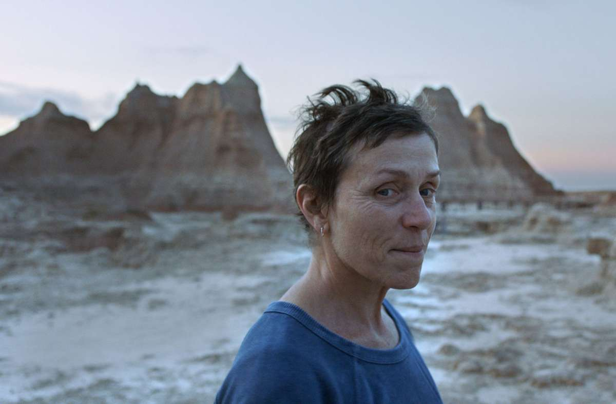 """Frances McDormand macht sich in """"Nomadland"""" in den amerikanischen Westen auf. Foto: dpa/--"""