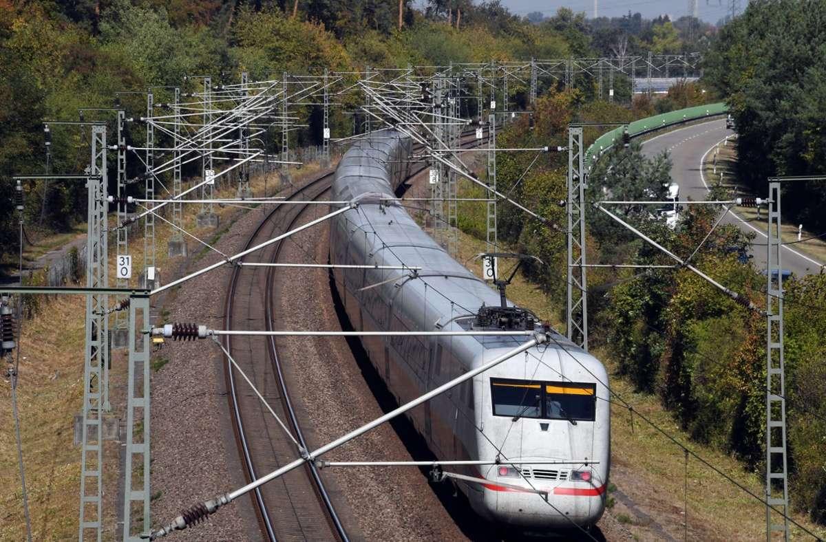 Auf der ICE-Strecke zwischen Mannheim und Stuttgart gehen die Bauarbeiten zu Ende. Foto: dpa/Uli Deck