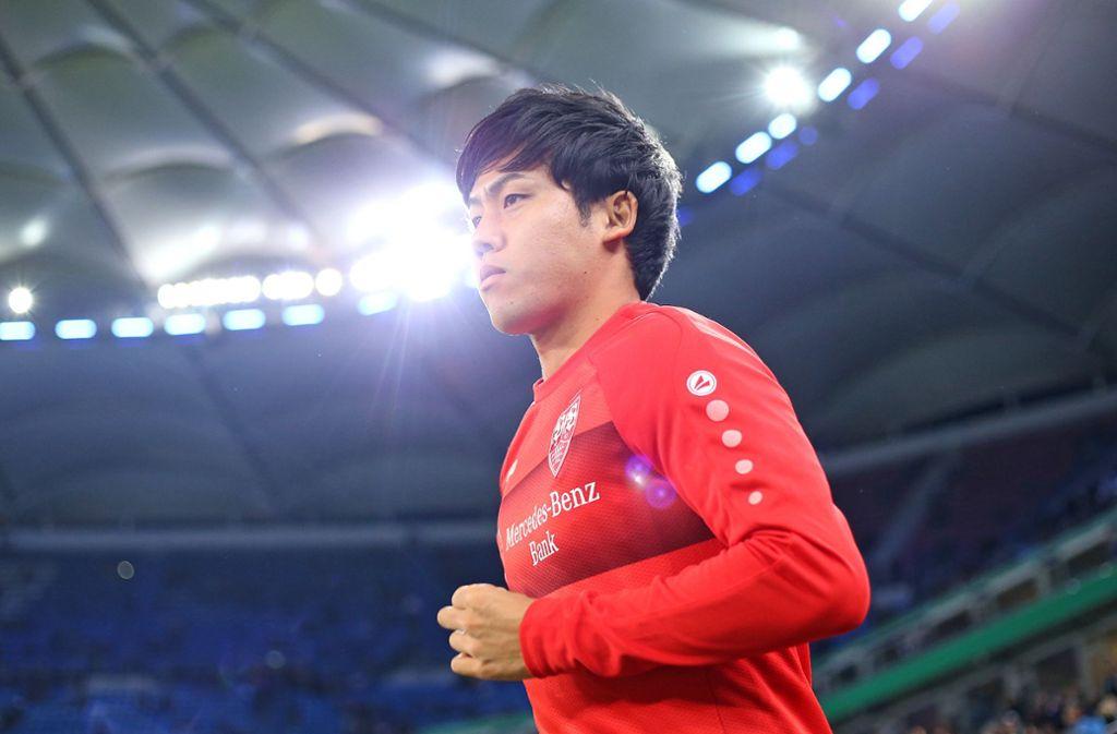 Beim VfB Stuttgart ist Wataru Endo bislang nur Dauerreservist. Foto: Baumann