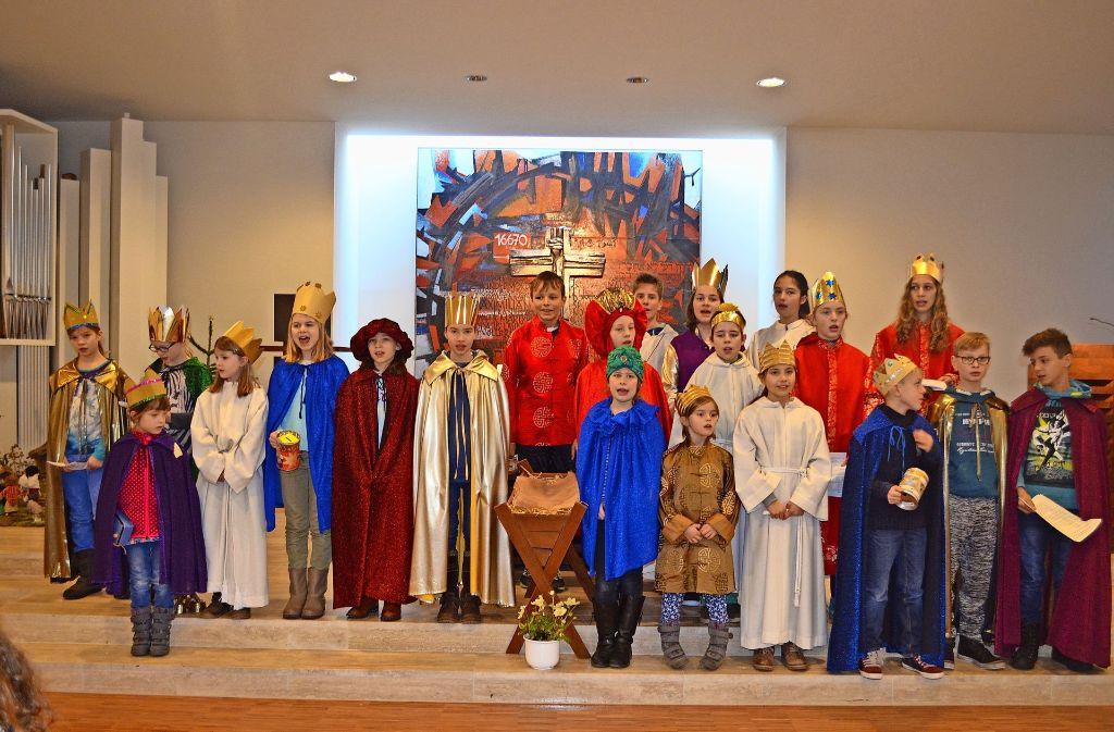 Die Sternsinger der katholischen Gemeinde Maximilian Kolbe. Foto: Wiebke Wetschera