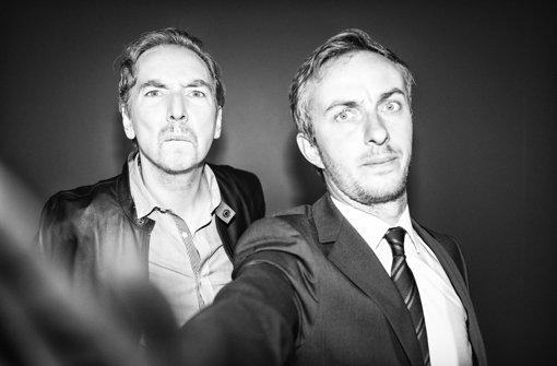 Ohne Selfie geht es nicht: So werben Olli Schulz (links) und Jan Böhmermann für ihre Sendung. Foto: ZDF