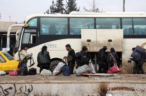 Evakuierung der Rebellengebiete Aleppos abgeschlossen