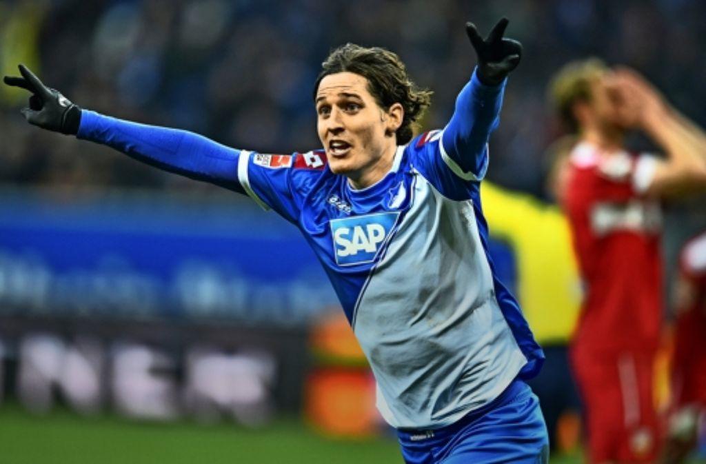 Toooor in Sinsheim: Hoffenheims Sebastian Rudy trifft spät – und mitten in die VfB-Seele. Foto: dpa