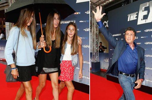 Mr. Stallone und seine Töchter