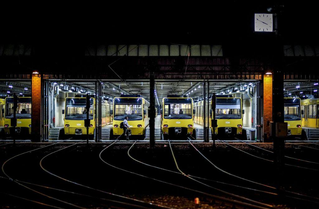 Die Stadtbahnen bleiben am Donnerstag in Stuttgart im Depot. Foto: Lichtgut/Leif Piechowski