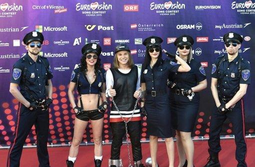 Fans feiern ESC-Auftakt in Wien