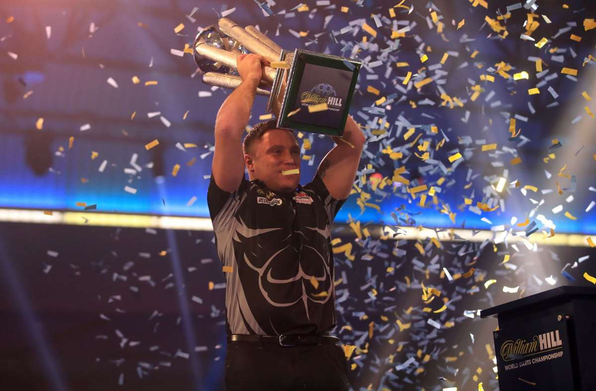 Gerwyn Price legte im Finale eine Galavorstellung hin und krönte sich zum Weltmeister. Foto: dpa/Adam Davy
