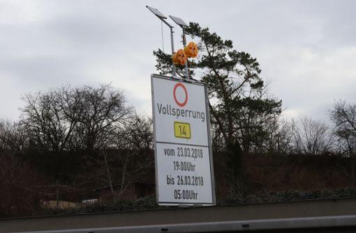 Fahrbahn am Kappelbergtunnel wird gesperrt