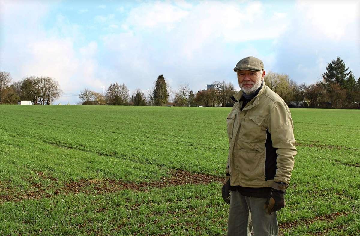 Landwirt Klaus Wais Foto: Caroline Holowiecki