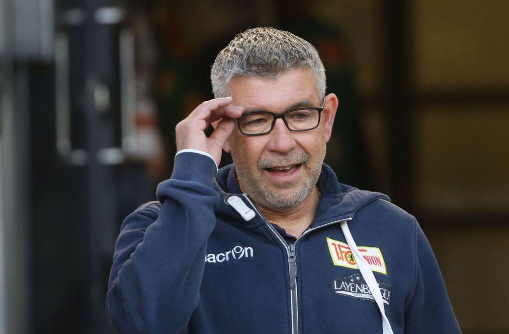 Für Union-Trainer Urs Fischer bleibt der VfB Stuttgart im Rückspiel der Relegation der Favorit. Foto: Pressefoto Baumann